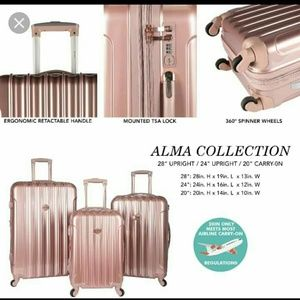 """Travelers Club luggage collection KENSIE 20"""" carry"""